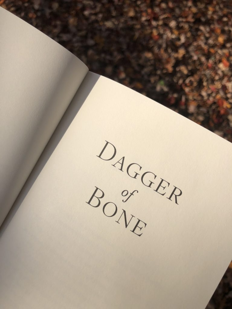 Photo of Paperback Copy of Dagger of Bone in the Fall