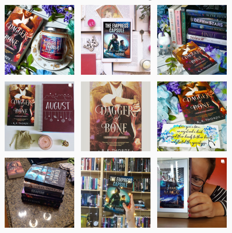 Instagram shots of my books